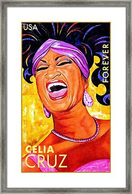 Celia Cruz Framed Print by Lanjee Chee