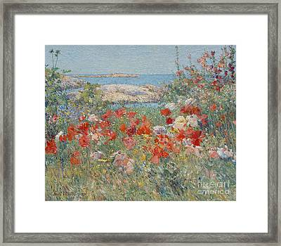 Celia Thaxter's Garden, Isles Of Shoals, Maine, 1890 Framed Print by Childe Hassam