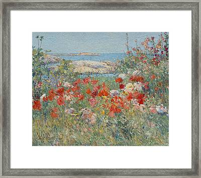 Celia Thaxter's Garden, Isles Of Shoals, Maine Framed Print by Childe Hassam