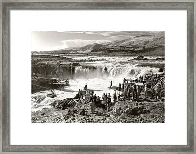 Celilo Falls Framed Print by Unknown