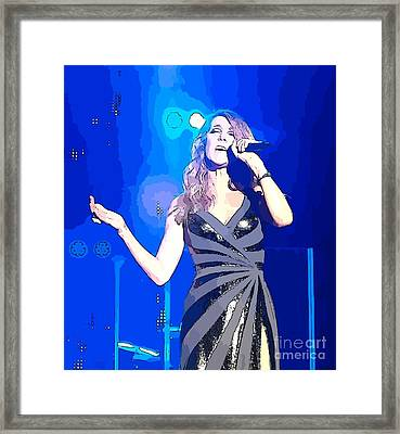 Celine Dion Abstract Framed Print