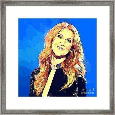 Celine Dion Abstract Portrait Framed Print