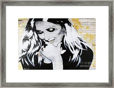 Celine Dion - Encore Un Soir Framed Print