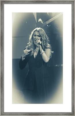 Celine Dion Encore Un Soir No 2 Framed Print