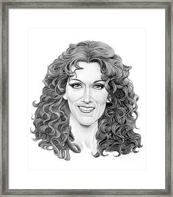 Celine Dion Framed Print by Murphy Elliott