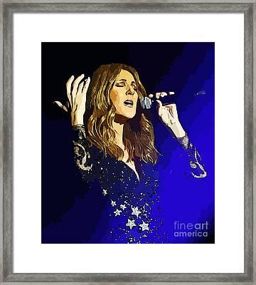 Celine Dion Poster Art Framed Print