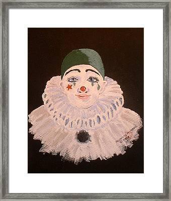Celine The Clown Framed Print by Arlene  Wright-Correll