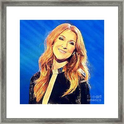 Celine Watercolor Framed Print