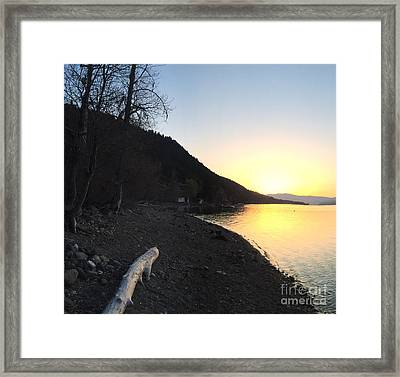 Framed Print featuring the photograph Celista Sunrise 1 by Victor K