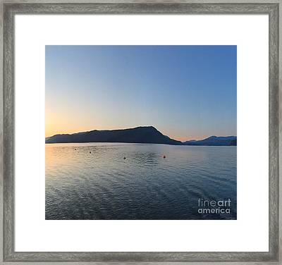 Framed Print featuring the photograph Celista Sunrise 2 by Victor K