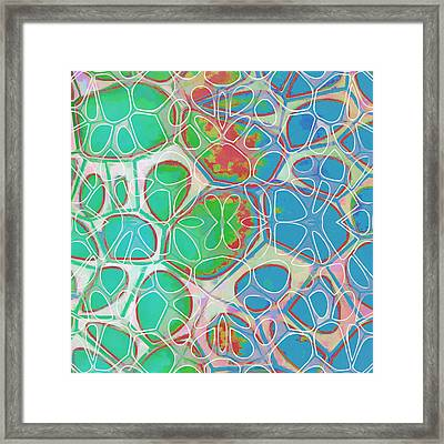 Cell Abstract 10 Framed Print by Edward Fielding
