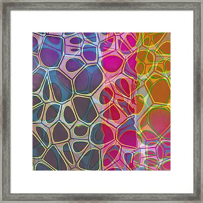 Cell Abstract 11 Framed Print by Edward Fielding