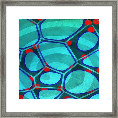 Cell Abstract 6a Framed Print by Edward Fielding