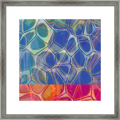 Cell Abstract One Framed Print by Edward Fielding