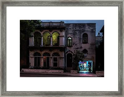 Framed Print featuring the photograph Cell Phone Shop Havana Cuba by Charles Harden