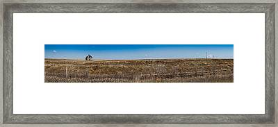 Cell Towers Invade The Prairie Framed Print