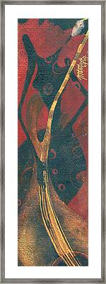 Framed Print featuring the painting Cellist by Maya Manolova