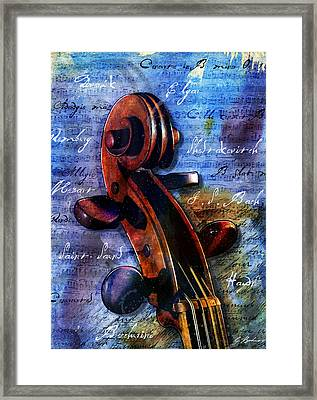 Cello Masters Framed Print by Gary Bodnar