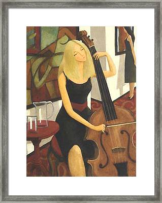 Cello Solo Framed Print by Glenn Quist