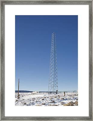 Cellphone Tower Framed Print by David Buffington