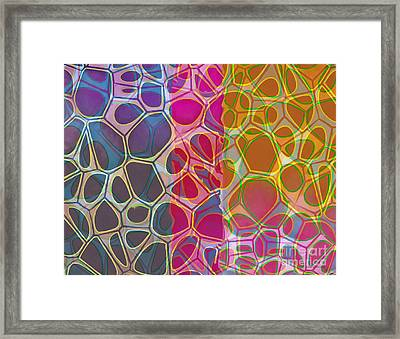 Cells 10 Abstract Painting Framed Print