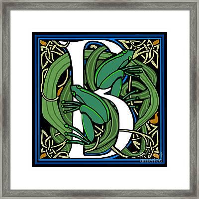 Celt Frogs Letter B Framed Print
