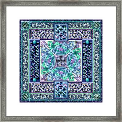 Framed Print featuring the mixed media Celtic Atlantis Opal by Kristen Fox