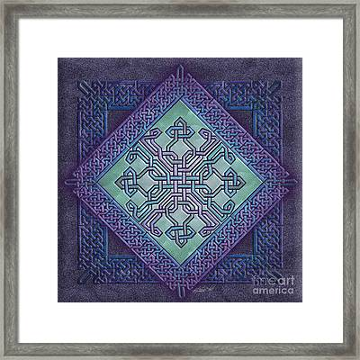 Framed Print featuring the mixed media Celtic Avant Garde by Kristen Fox