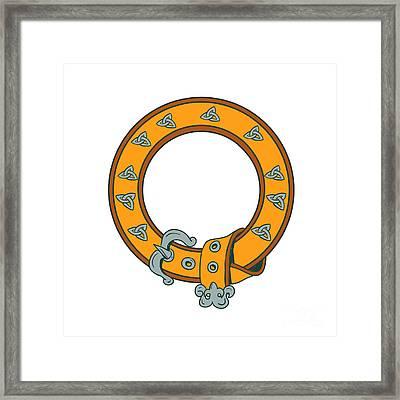 Celtic Belt Knotwork Drawing Framed Print