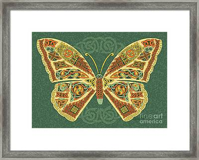 Framed Print featuring the mixed media Celtic Butterfly by Kristen Fox