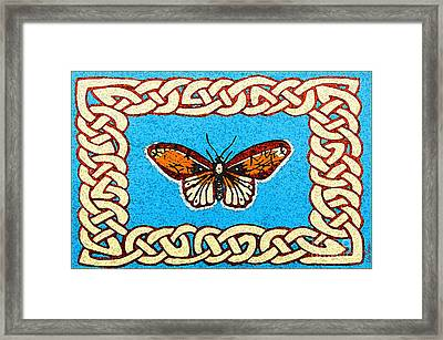 Celtic Butterfly Framed Print