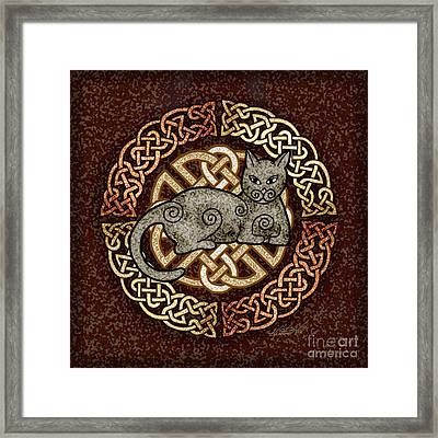 Celtic Cat Framed Print