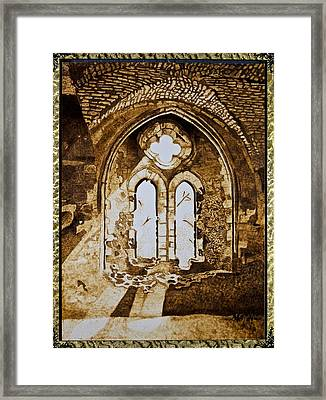 Celtic Cathedral Framed Print by Marsha Wilson