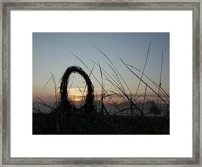 Celtic Circle Dawn-05 Framed Print by Pat Bullen-Whatling