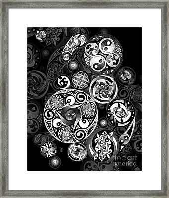 Framed Print featuring the mixed media Celtic Clockwork by Kristen Fox