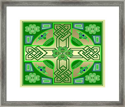 Celtic Clover Knot Framed Print by Mike Sexton