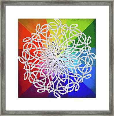 Celtic Color Interlaced 1 Framed Print