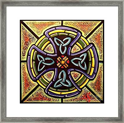Framed Print featuring the painting Celtic Cross 2 by Jim Harris