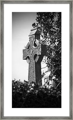 Celtic Cross At Fuerty Cemetery Roscommon Ireland Framed Print