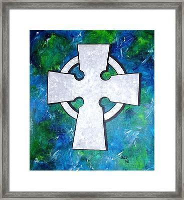 Celtic Cross Framed Print by Bo Klinge