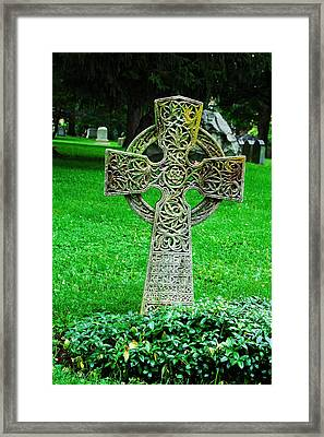 Celtic Cross  Framed Print by Brigid Nelson