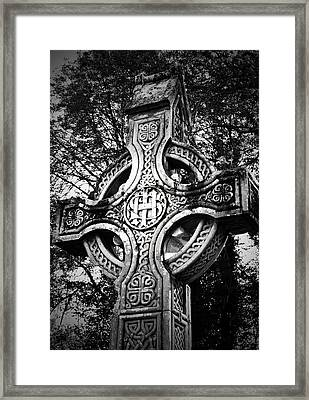Celtic Cross Detail Killarney Ireland Framed Print by Teresa Mucha
