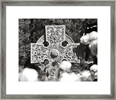 Celtic Cross I Framed Print by Tom Mc Nemar