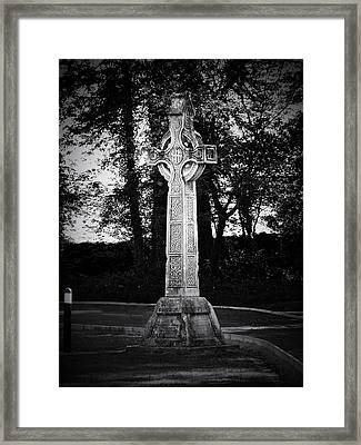 Celtic Cross In Killarney Ireland Framed Print