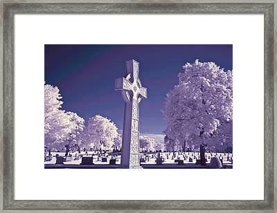 Celtic Cross Framed Print by James Walsh