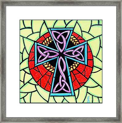 Framed Print featuring the painting Celtic Cross by Jim Harris