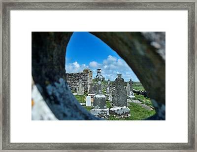 Celtic Cross Framed Print by Jim Murphy