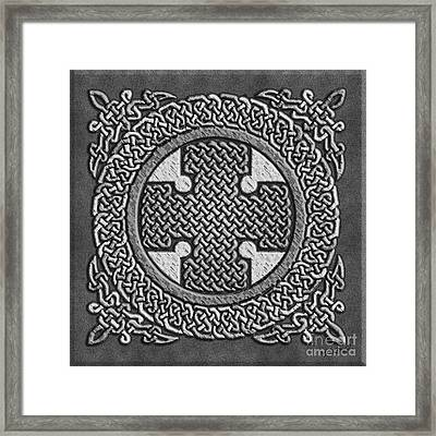 Framed Print featuring the mixed media Celtic Cross by Kristen Fox