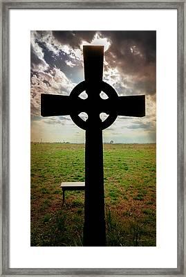 Celtic Cross Silhouette Framed Print