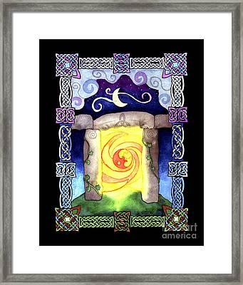 Framed Print featuring the painting Celtic Doorway by Kristen Fox